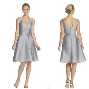Alfred Sung D624 Cocktail Bridesmaid Dress Gray 10